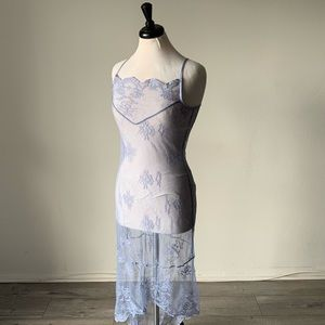 Other - Vintage Sheer Lace Periwinkle Slip